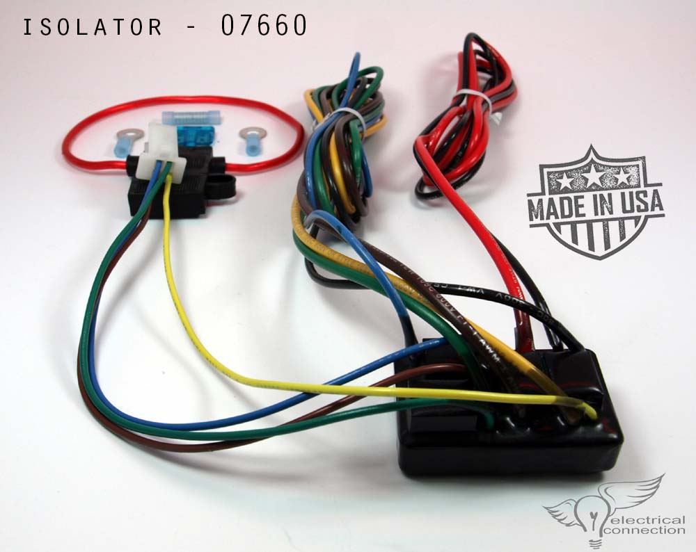 07660 isolator, universal electrical connection Universal Wiring Harness Diagram at crackthecode.co