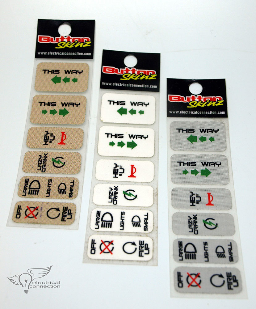 Button Skinz for Harley Controls