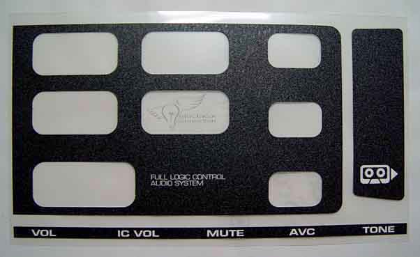 honda gl1500 radio overlay decal