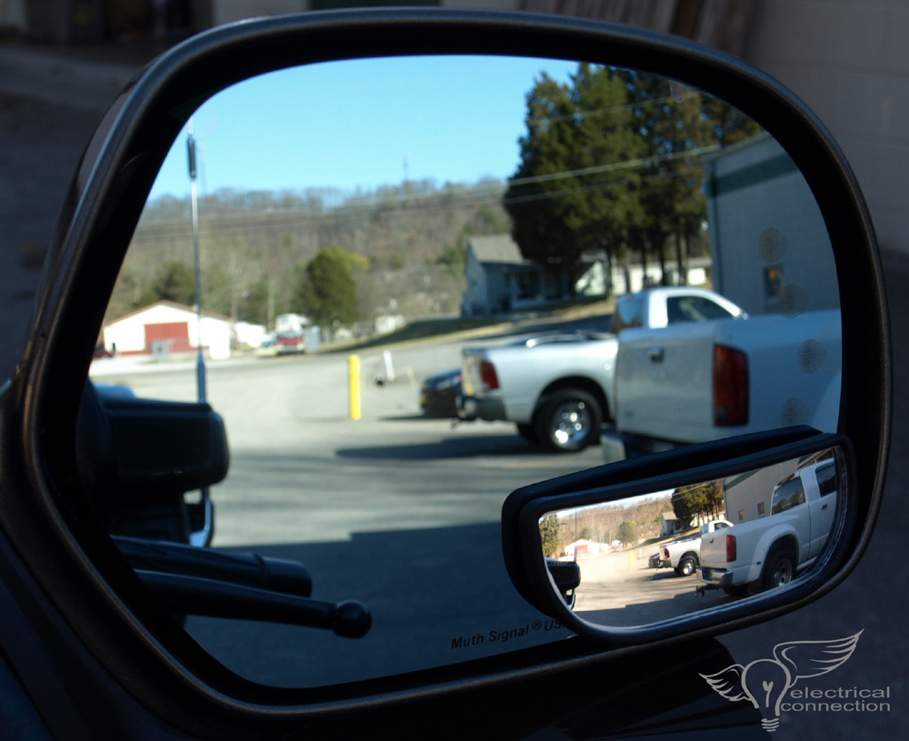 Blind Spot Mirror Micro Glass Electrical Connection