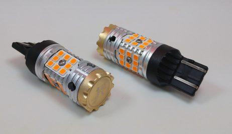 7443 Smart Tek LED Amber Signal Bulb